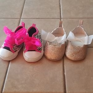 Baby girl size 6-9 month shoes
